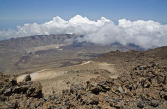 View from peak Teide Stock Photos