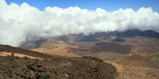 View from peak Teide Royalty Free Stock Photos