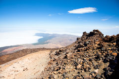 View from peak Teide, Tenerife,  Spain Stock Photography