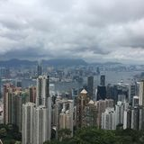 View from Peak Tower Hongkong Royalty Free Stock Photography