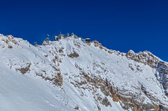 View of the peak of Zugspitze, Germany Stock Image