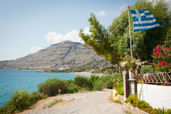 A view of Pefkos, Rhodes, Greece Royalty Free Stock Images