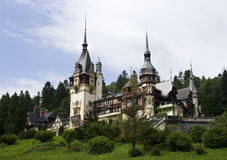 View of Peles Castle Royalty Free Stock Photography