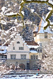 View of Peles Castle Complex, Sinaia, Romania Royalty Free Stock Photo