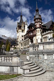 View of Peles Castle Tower Stock Images