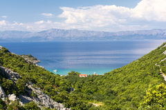 View of  the Peljesac in Dalmatia Royalty Free Stock Photography