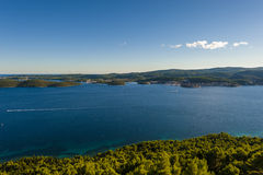 View from Peljesac peninsula at island Kor�ula Stock Photo