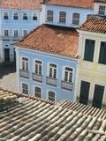 View of Pelourinho. Salvador da Bahia. Brazil. Vertical royalty free stock photo