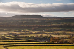 View of Pen-y-Ghent in Yorkshire Dales National Park England Royalty Free Stock Photography