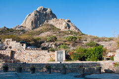 View of Pena de Bernal Royalty Free Stock Photography