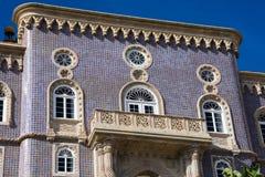 View of The Pena Palace Palacio Nacional da Pena. Sintra, Portugal. January 26, 2018. View of The Pena Palace Palacio Nacional da Pena royalty free stock images