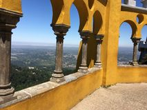 View from Pena Palace Stock Photography