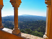 View from Pena Palace, Sintra, Portugal Stock Photography