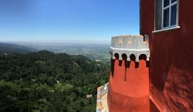 View from Pena Palace Stock Image