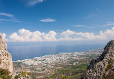 View from Pendathaktilos mountain Royalty Free Stock Images
