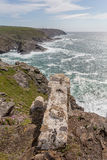 View from Pendeen lighthouse in cornwall england uk. Pendeen lighthouse stunning scenery in this famous artisitic location in cornwall england uk Stock Photography