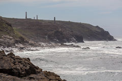View from Pendeen lighthouse in cornwall england uk. Pendeen lighthouse stunning scenery in this famous artisitic location in cornwall england uk Stock Images