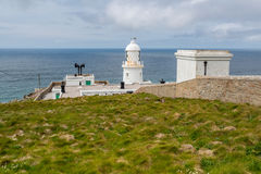 View from Pendeen lighthouse in cornwall england uk. Pendeen lighthouse stunning scenery in this famous artisitic location in cornwall england uk Royalty Free Stock Photos