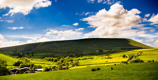 View at Pendle Hill on Sunny Day Stock Photos