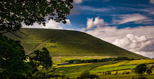 View at Pendle Hill on Sunny Day royalty free stock images