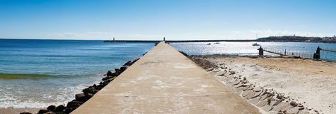 View of Peniche pier Stock Photo