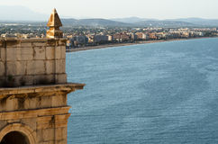 View of Penicola. View of peniscola from the Castle Royalty Free Stock Photos