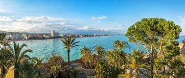View on Peniscola  from the  Pope Luna's  Castle , Valencia, Spa Stock Photos