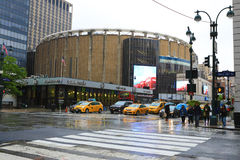 View of Penn Station in Manhattan on a rainy day Stock Images