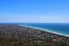 View of Pennisula. Sunny day over the Mornington Pennisula in southern Victoria, Australia Royalty Free Stock Photos