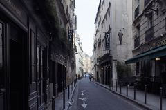 View of a people in Saint-Germain area of Paris. stock images