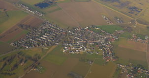 View for People Settlements from the Plane stock footage