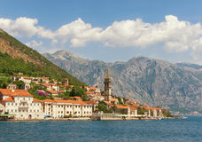 View of  Perast city. Bay of Kotor, Montenegro Stock Photos