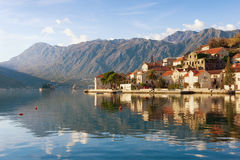 View of Perast town. Bay of Kotor, Montenegro Royalty Free Stock Photography