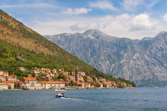 View of  Perast town. Montenegro Stock Image