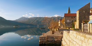 View of Perast town. Montenegro Stock Photography