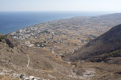 View of Perissa. Royalty Free Stock Photography
