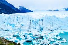 View of Perito Moreno Glacier at Argentino lake stock images