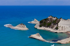 View of the Peroulades. Greece, Corfu Stock Image
