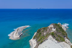 View of Peroulades on Corfu. Greece, Corfu Stock Images