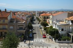 View of Perpignan, France royalty free stock photo