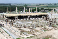 View of Persepolis from the hill Royalty Free Stock Image
