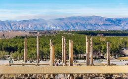 View on Persepolis from the Tomb of Artaxerxes III Stock Image