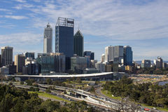 View of Perth City , Western Australia from King's Park lookout. Royalty Free Stock Photography
