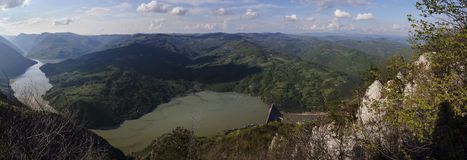 View of Perucac dam in West Serbia Royalty Free Stock Images