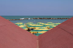 View of Pesaro beach Royalty Free Stock Photography
