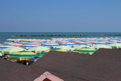View of Pesaro beach Royalty Free Stock Images