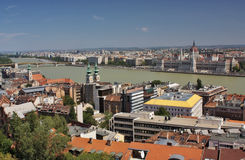 A view of the Pest and Buda part of Budapest Royalty Free Stock Images