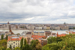 View of Pest, including the Banks of the Danube Royalty Free Stock Photos