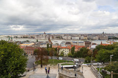 View of Pest, including the Banks of the Danube Royalty Free Stock Photography