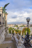 View of Pest, including the Banks of the Danube and the Széchenyi Chain Bridge 5 Stock Images